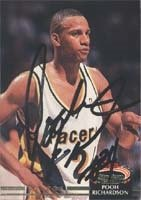 Pooh Richardson Indiana Pacers 1993 Stadium Club Autographed Hand Signed Trading... by Hall+of+Fame+Memorabilia