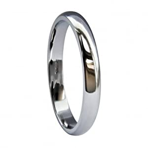 QUALITY UK Platinum 2mm D Shape Extra Heavy Wedding Ring 2.0g Size N