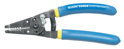 Klein Tools 11055 Klein Tools-Kurve Wire Stripper/Cutter, Blue with Yellow Stripe, 10 – 20 ga.