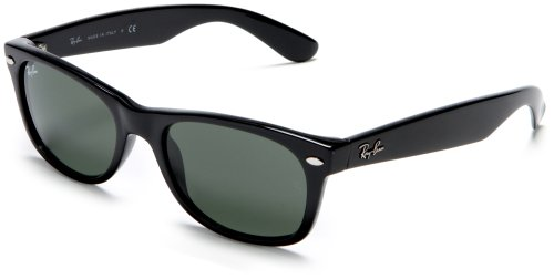 Ray-Ban RB2132 New Wayfarer Sunglasses,Black Frame/G-15-XLT Lens,52 mm