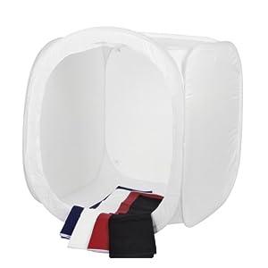 Cube à lumière pour des prises de vue produit parfaites , technique pop-up pratique, dépliable en un tour de main, avec sac de transport pratique