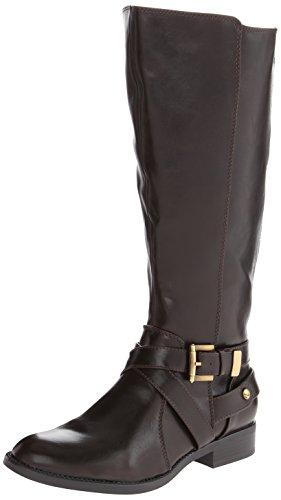 LifeStride Women's Racey Riding Boot,Dark Brown Wide Shaft,8