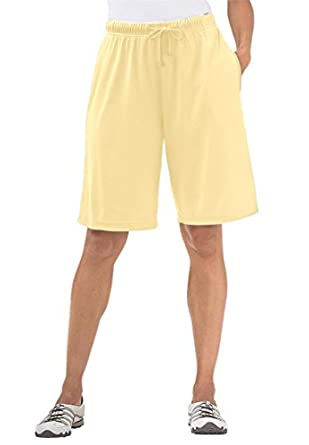 Women's Plus Size Shorts In Soft Sport Knit at Amazon