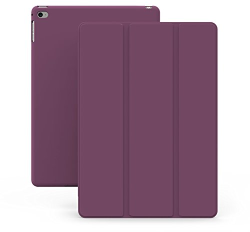iPad Air 2 Case (iPad 6) - KHOMO DUAL Super Slim Purple Cover with Rubberized back and Smart Feature (Built-in magnet for sleep / wake feature) For Apple iPad Air 2 Tablet (Ipad Air 2 Khomo Dual compare prices)