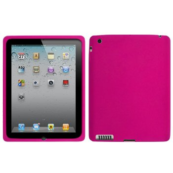 Cbus Wireless Hot Pink Silicone Case / Skin / Cover for Apple iPad 2 / iPad2