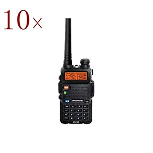 10pcs New BaoFeng Black UV-5R 136-174 400-480 MHz Dual-Band DTMF CTCSS DCS FM Ham Two... by BaoFeng
