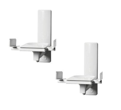 B-Tech BT77 - Ultragrip ProTM- Support mural pour haut-parleurs avec dispositif de blocage latéral, inclinaison et orientation - Finitions : Blanc