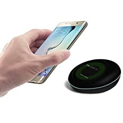 Fast Wireless Charger, Mikobox Qi F9 High Efficiency 10W Turbo Wireless Charging Dock PowerStation for Samsung Galaxy S7, Galaxy S7 Edge, Note 5, Galaxy S6 Edge Plus(Adaptive Fast Charge Not Included)