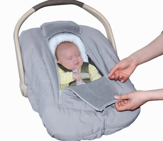Jolly Jumper Sneak a Peek Sneak-a-Peek Infant Carseat Cover Deluxe Gray
