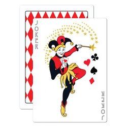 Joker Card Cutout Party Accessory (1 count) - 1