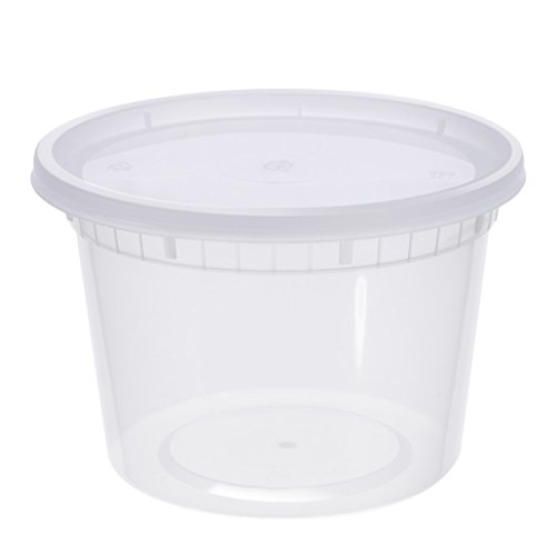 Glotoch Item # DC-16 24Pieces 16 Ounce Food Containers with Leak Proof Lid - Foodsavers for Portion Control - BPA-Free Reusable Microwaveable,Freezer & Dishwasher Safe Food Storage Container (Deli Food Container 16 compare prices)