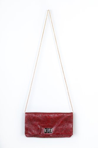 Simple Girl Clutch in Red