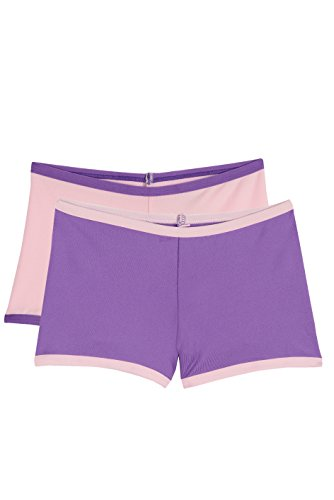 Hanes Girls Premium 2-pack Play Shorts (Medium, Light Pink/Purple)