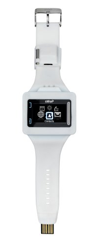 sWaP REBEL Colourful Lightweight, Water Resistant Sim Free Mobile Phone Watch - White