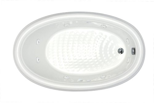 Sea Spa Tubs S4270Pwr Tubs Petite 42 By 70 By 23-Inch Oval Whirlpool Jetted Bathtub, White