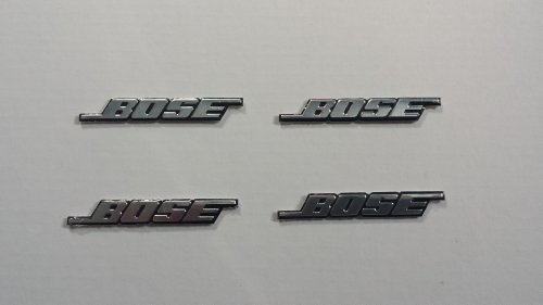 New 4Pcs Bose Speaker Self Adhesive Chrome Emblem, Decal, Badge Usa Seller