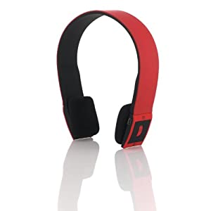 Sonixx X-Sport Red Sportsband Wireless Bluetooth Headphones / Headset With Microphone and Remote - 3 YEAR WARRANTY
