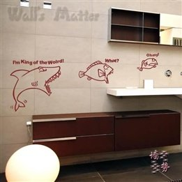 Large Cartoon Funny Shark Fish Kids Room Kindergarten Nursery Removable Wall Art Modern Decal Home Decor Wall Stickers front-209211