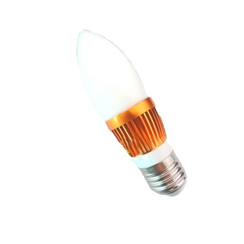 Lenbo Dimmable High Power 9W 600Lm E27 Led Candle Bulb Glass Light Cold White Ac 110V 3X3W Lamp Bulb Equivalent To 60W Halogen 120 Degree Beam Angle Golden Case Without Tail Lc19