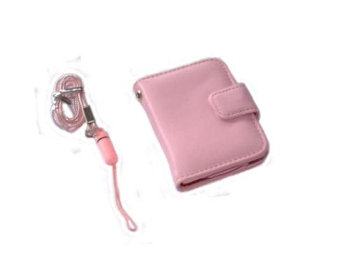 KMS -  3G PINK CASE WITH MAGNETIC CLIP & PINK  NECK STRAP FOR APPLE iPOD NANO 3G 3RD GENERATION 4GB 8GB