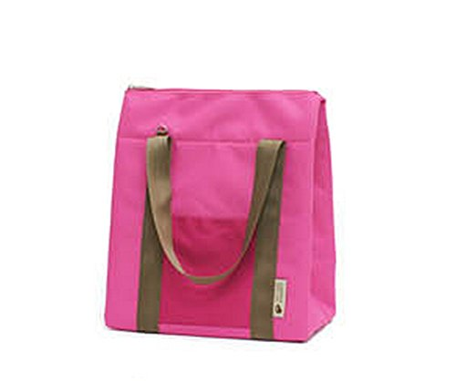 SCStyle Portable Waterproof Picnic Thermal Cooler Insulated Lunch Carry Tote Storage Pouch Bag (Rose Pink) - 1