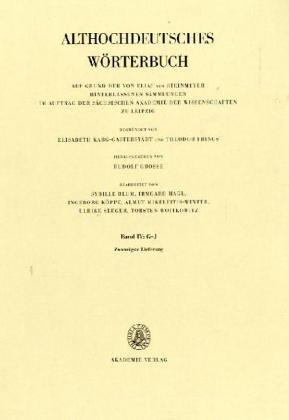 Althochdeutsches Wörterbuch: Band IV: G-J, 20. Lieferung (ischas bis in)
