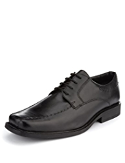 Leather Wide Fit Square Toe Shoes