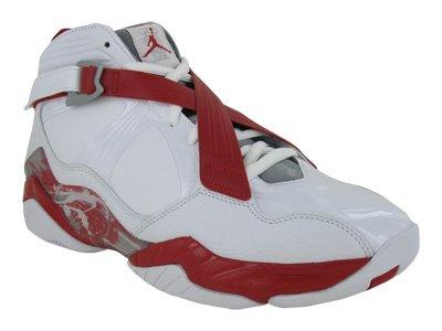 Nike Men's NIKE AIR JORDAN 8.0 BASKETBALL SHOES 11 (WHT/MTLLC SLVR/VRSTY RD  STLTH)