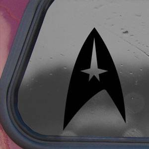 STAR TREK COMMAND Logo Black Decal Sticker Laptop Die-cut Black Decal Sticker