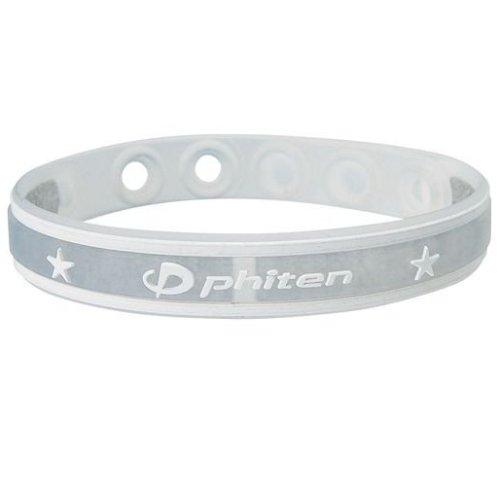 Phiten Sport Type Bracelet, Clear White