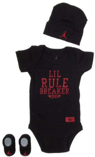 Jordan Baby Clothes Lil Rule Breaker Set for Baby Boys and Girls (One Size 0-6 Months) Black, 0-6 Months