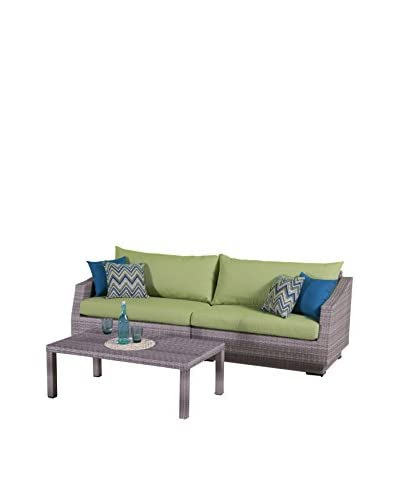 RST Brands Cannes 2-Piece Sofa, Green