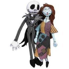 "Nightmare Before Christmas Jack and Sally 17"" Jumbo, Huge Plush Poseable Bendable Dolls, Set"