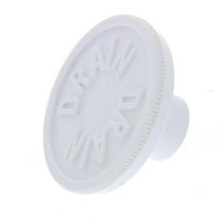 Plug-Drain Chest Freezer With White Earbud Headphones