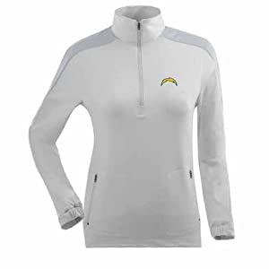 San Diego Chargers Succeed 1 4 Zip Performance Pullover (White) by Antigua