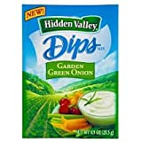 Hidden Valley Ranch Dip and Salad Dressing Mix 1oz Packs (Pack of 12) (Garden Green Onion)