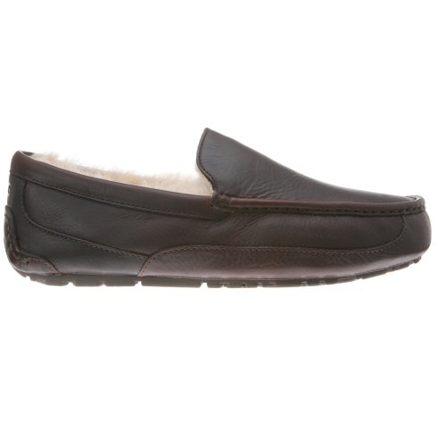 UGG UGG Australia Men's Ascot Leather Slippers,China Tea,15 US