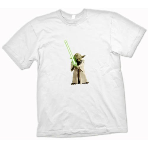 Yoda Jedi Sabre Star Wars T Shirt All Sizes