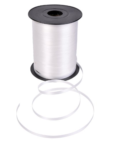 500 yds White Curling Ribbon