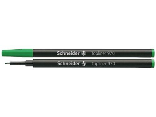 Schneider Fineliner Topliner 970 Mine de rechange pour stylo Topliner 911 Pointe 0,4 mm Vert Lot de 10