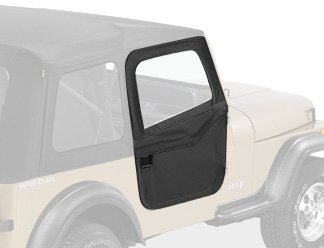 Bestop 51783-01 Black 2-Piece Door Set For 80-95 Cj7 And Wrangler Yj