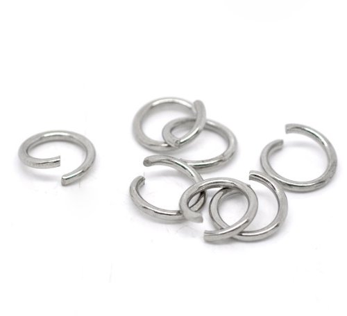 VALYRIA 200pcs Stainless Steel Open Jump Rings Connectors 9mm Dia. (9mm Split Ring compare prices)