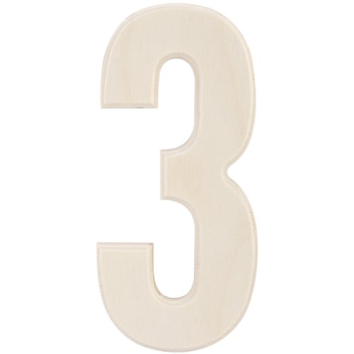 MPI Baltic Birch University Font Letters and Numbers, 5-Inch, Number 3 (5 Inch Wood Numbers compare prices)