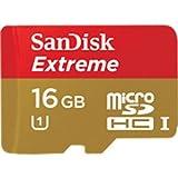 SanDisk Extreme microSDHC UHS-I カード Class10  16GB SDSDQX-016G-J35A