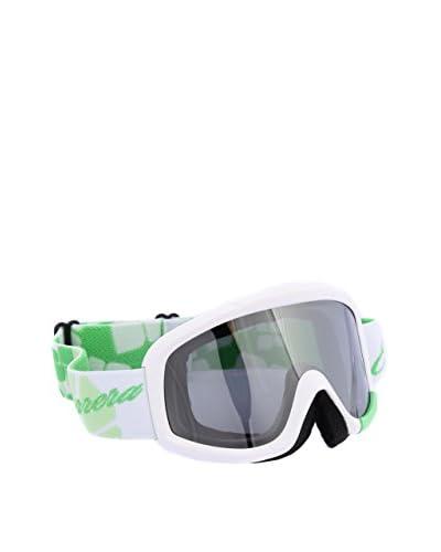Carrera Sport Maschera da Sci M00375 NEBULA MAT FLOW GREEN 4O Bianco