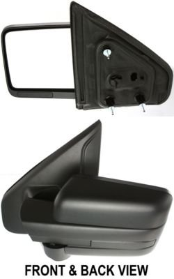 Kool Vue FD131L Mirror Corner mount Type Driver Side LH Plastic Textured Manual folding (2011 Ford F150 Driver Side Mirror compare prices)