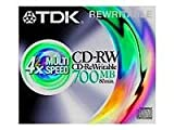 TDK - 1 x CD-RW 700 MB ( 80min ) - storage media