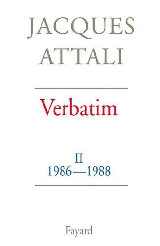 Verbatim : Chronique des années 1986-1988 (Documents)