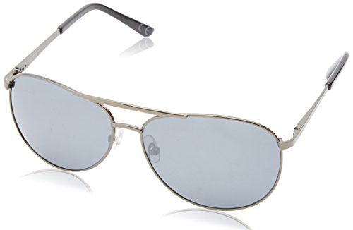 Anarchy Men'S Air Boss Polarized Aviator Sunglasses,Gun,63 Mm