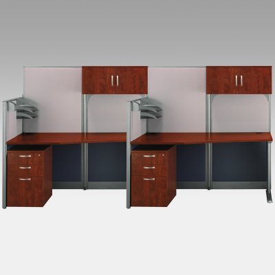 Buy Low Price Comfortable Bush Office-in-an-Hour Double Computer Desk with Storage – BHI682 (B003ZJ4FVI)